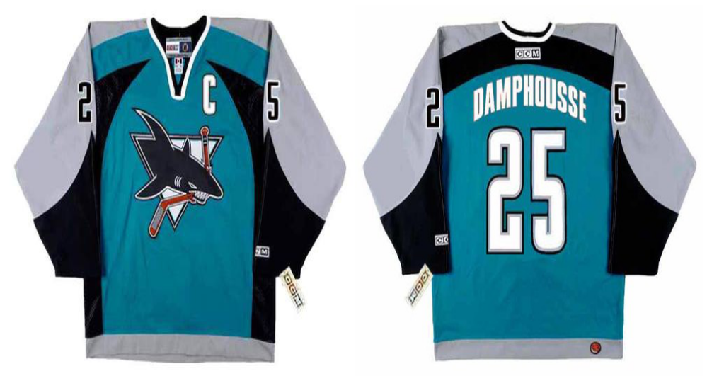 2019 Men San Jose Sharks 25 Damphousse blue CCM NHL jersey