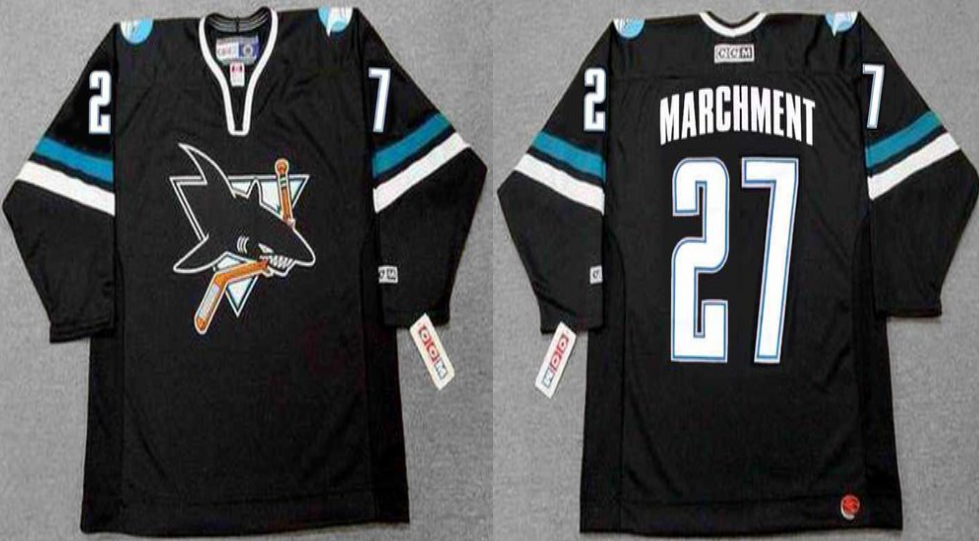 2019 Men San Jose Sharks 27 Marchment black CCM NHL jersey