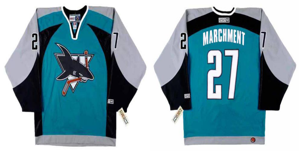 2019 Men San Jose Sharks 27 Marchment blue CCM NHL jersey