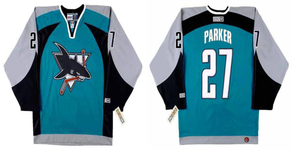 2019 Men San Jose Sharks 27 Parker blue CCM NHL jersey