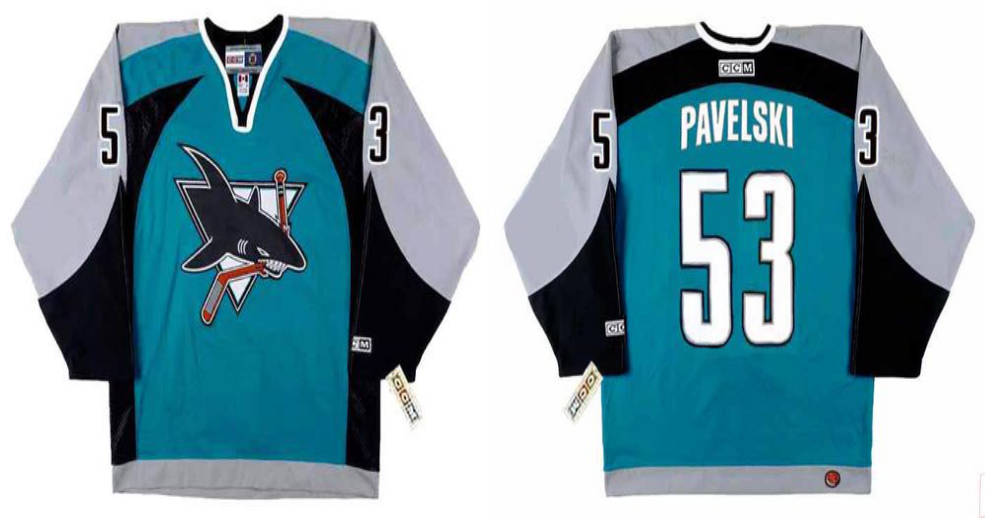 2019 Men San Jose Sharks 53 Pavelski blue CCM NHL jersey