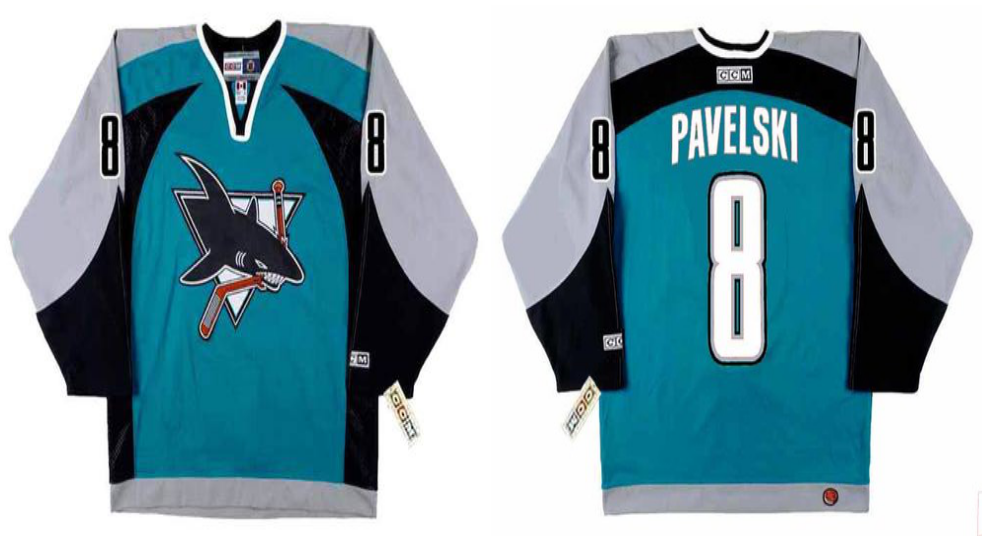2019 Men San Jose Sharks 8 Pavelski blue CCM NHL jersey