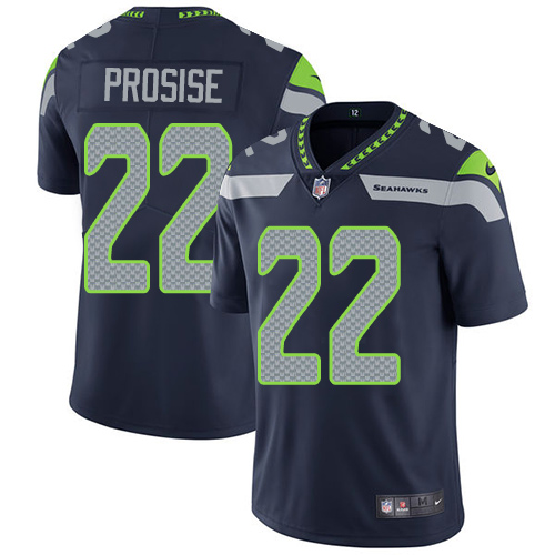 2019 Men Seattle Seahawks 22 Prosise blue Nike Vapor Untouchable Limited NFL Jersey