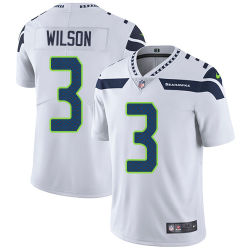 2019 Men Seattle Seahawks 3 Wilson white Nike Vapor Untouchable Limited NFL Jersey