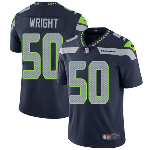 2019 Men Seattle Seahawks 50 Wright blue Nike Vapor Untouchable Limited NFL Jersey