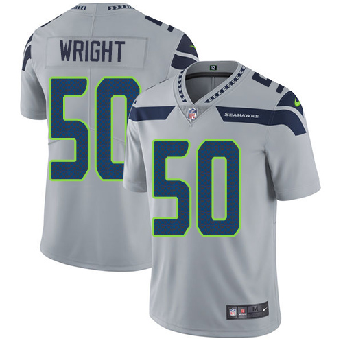 2019 Men Seattle Seahawks 50 Wright grey Nike Vapor Untouchable Limited NFL Jersey