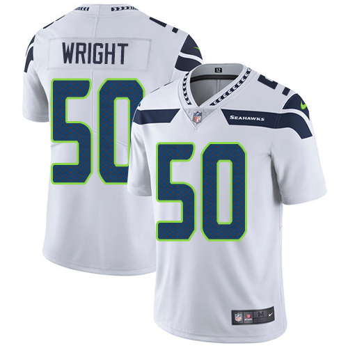 2019 Men Seattle Seahawks 50 Wright white Nike Vapor Untouchable Limited NFL Jersey