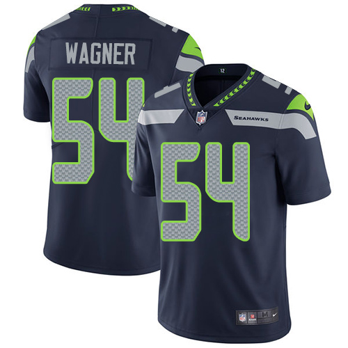 2019 Men Seattle Seahawks 54 Wagner blue Nike Vapor Untouchable Limited NFL Jersey