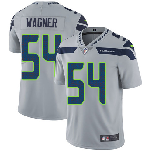2019 Men Seattle Seahawks 54 Wagner grey Nike Vapor Untouchable Limited NFL Jersey