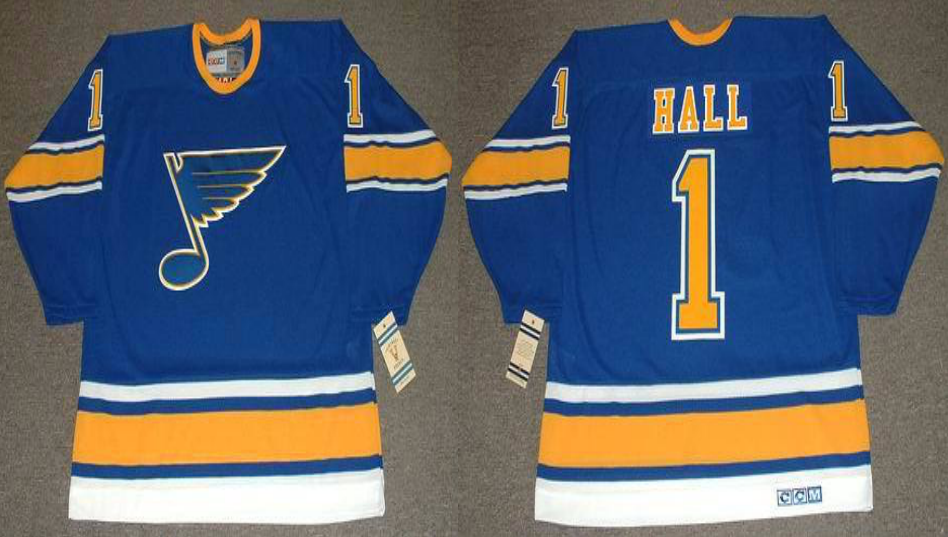 2019 Men St.Louis Blues 1 Hall blue CCM NHL jerseys