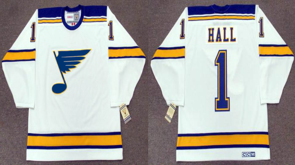 2019 Men St.Louis Blues 1 Hall white CCM NHL jerseys