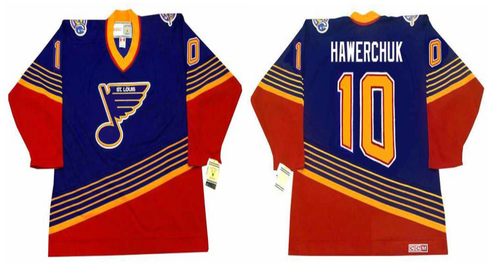 2019 Men St.Louis Blues 10 Hawerchuk blue CCM NHL jerseys