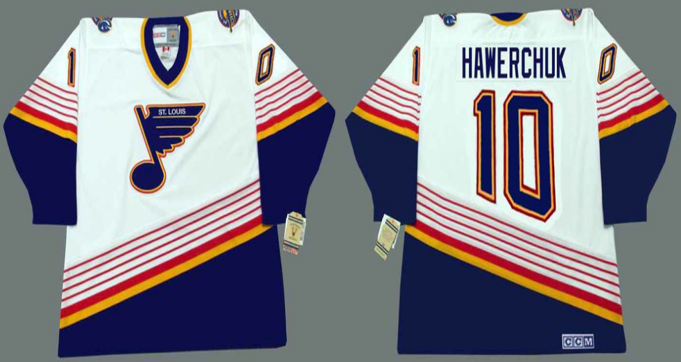 2019 Men St.Louis Blues 10 Hawerchuk white CCM NHL jerseys