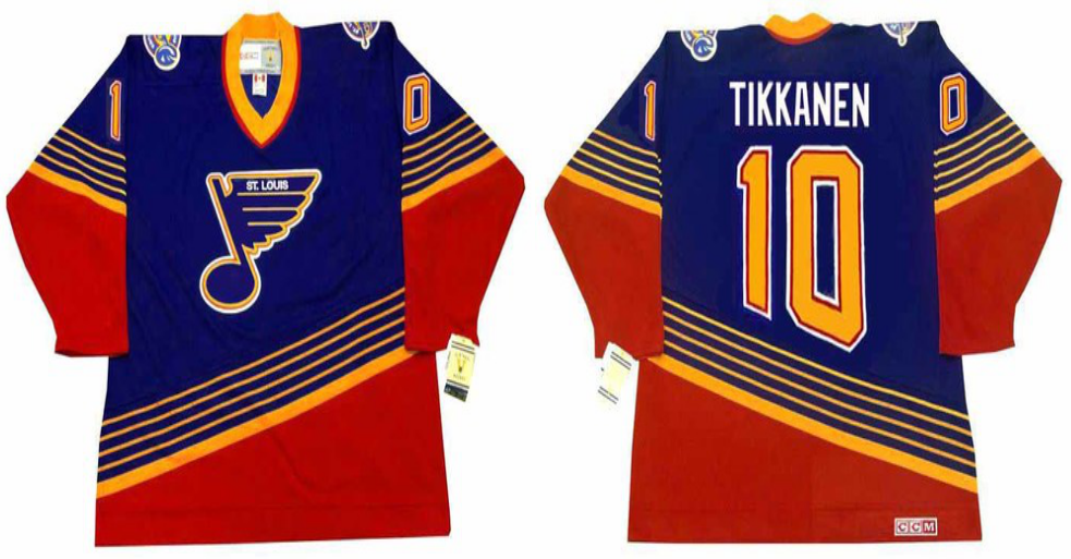 2019 Men St.Louis Blues 10 Tikkanen blue CCM NHL jerseys