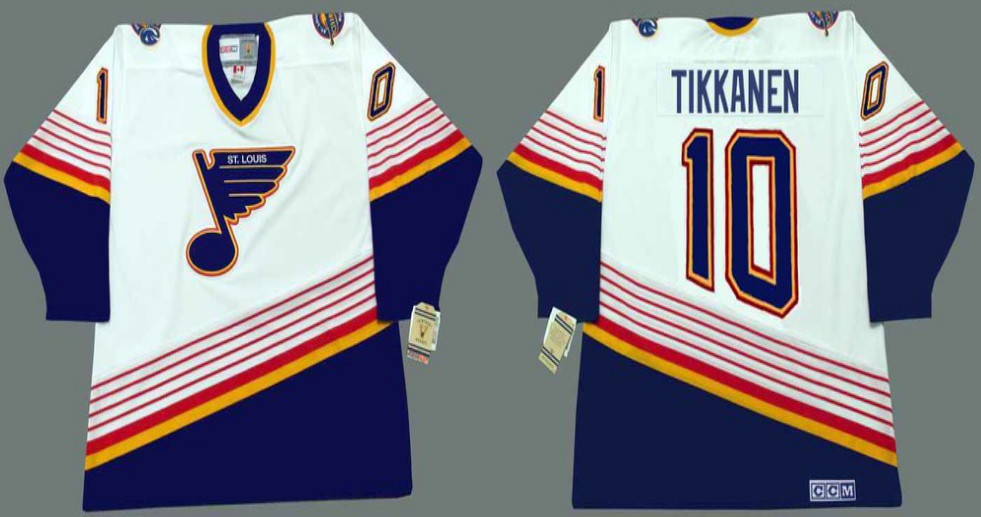 2019 Men St.Louis Blues 10 Tikkanen white CCM NHL jerseys