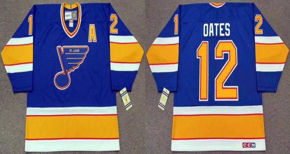 2019 Men St.Louis Blues 12 Oates blue CCM NHL jerseys