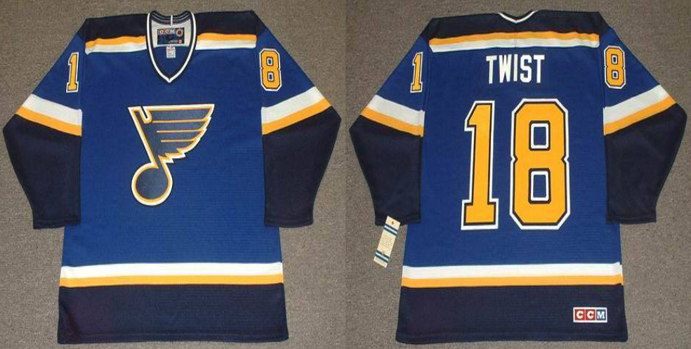 2019 Men St.Louis Blues 18 Twist blue CCM NHL jerseys