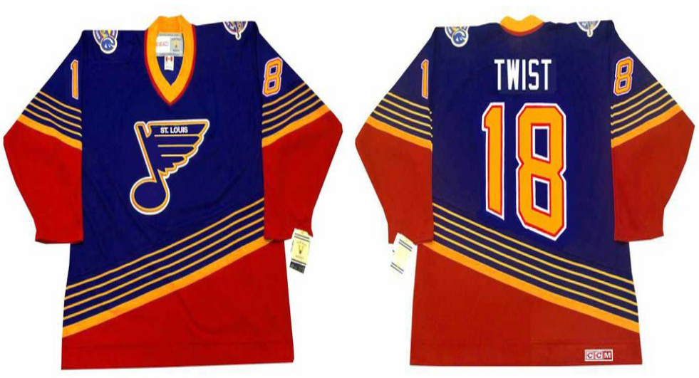 2019 Men St.Louis Blues 18 Twist blue style 2 CCM NHL jerseys