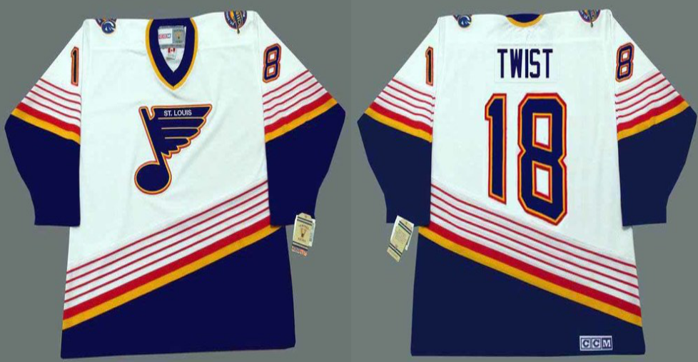 2019 Men St.Louis Blues 18 Twist white CCM NHL jerseys