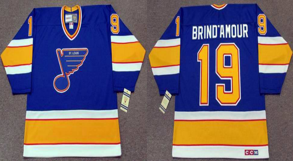 2019 Men St.Louis Blues 19 Brind Amour blue CCM NHL jerseys