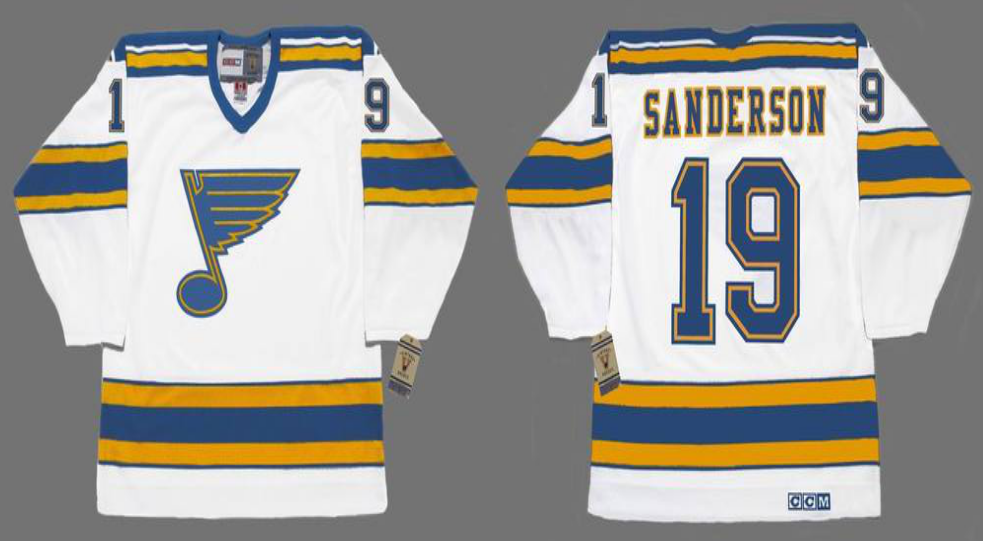 2019 Men St.Louis Blues 19 Sanderson white CCM NHL jerseys