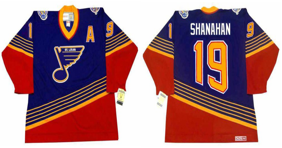 2019 Men St.Louis Blues 19 Shanahan blue CCM NHL jerseys