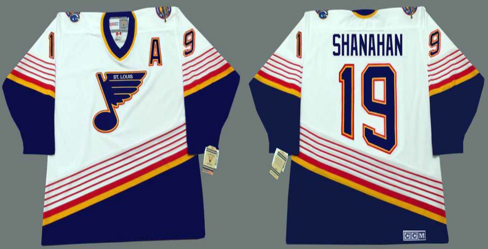 2019 Men St.Louis Blues 19 Shanahan white CCM NHL jerseys
