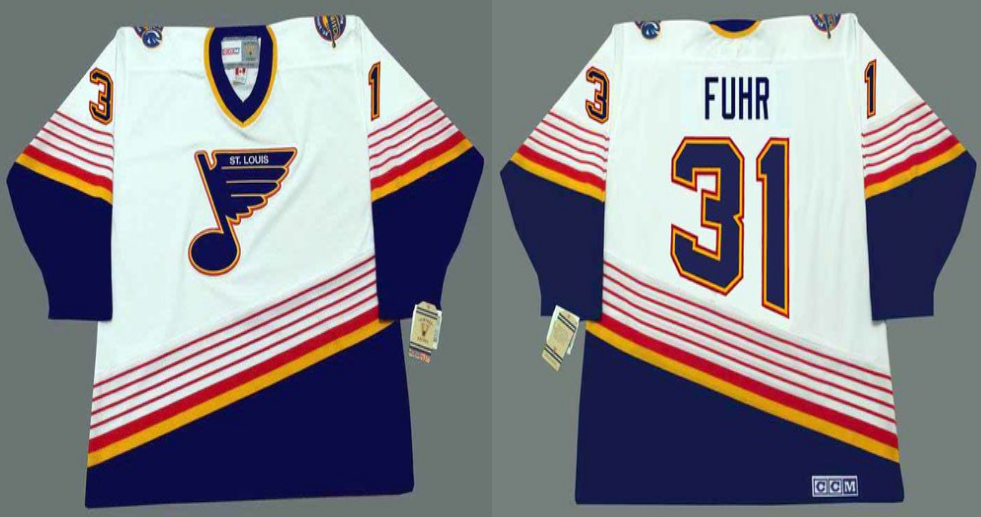 2019 Men St.Louis Blues 31 Fuhr white CCM NHL jerseys