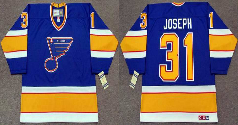 2019 Men St.Louis Blues 31 Joseph blue style2 CCM NHL jerseys