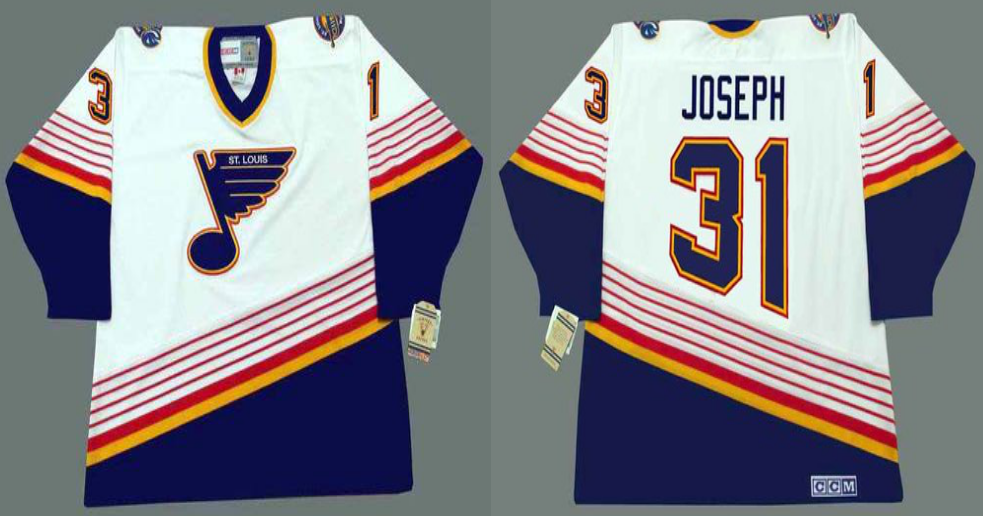 2019 Men St.Louis Blues 31 Joseph white CCM NHL jerseys