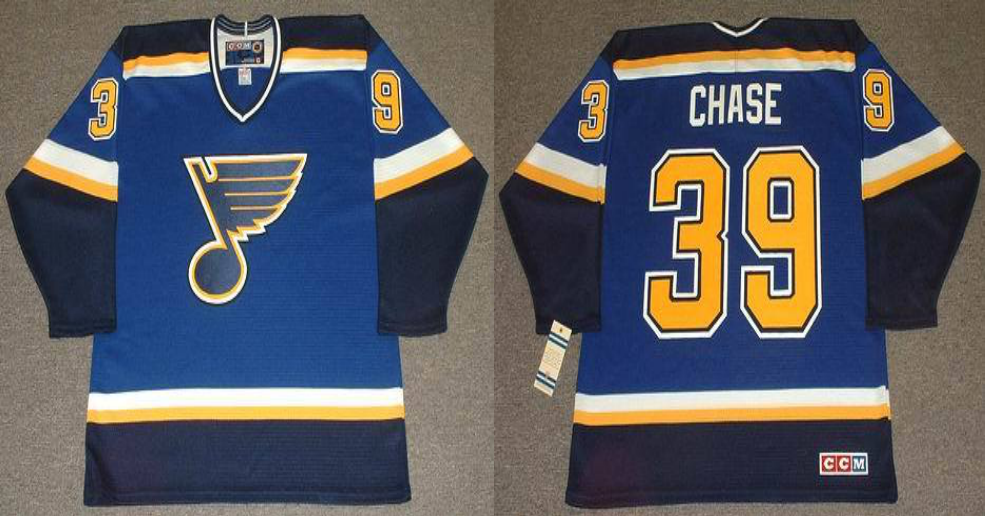 2019 Men St.Louis Blues 39 Chase blue CCM NHL jerseys
