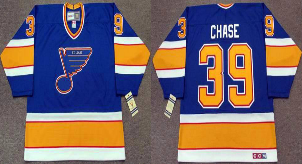 2019 Men St.Louis Blues 39 Chase blue style3 CCM NHL jerseys