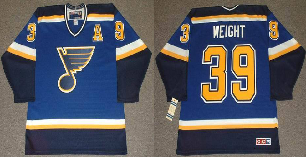 2019 Men St.Louis Blues 39 Weight blue CCM NHL jerseys
