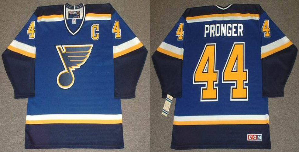 2019 Men St.Louis Blues 44 Pronger blue CCM NHL jerseys