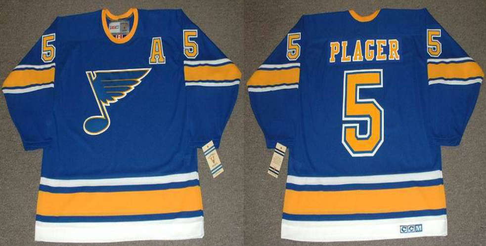 2019 Men St.Louis Blues 5 Plager blue CCM NHL jerseys