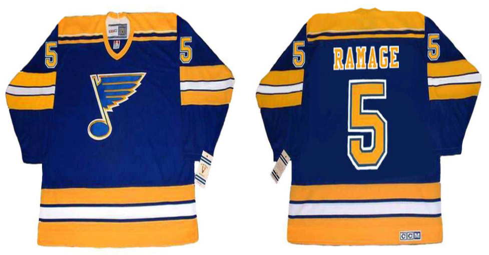 2019 Men St.Louis Blues 5 Ramage blue CCM NHL jerseys