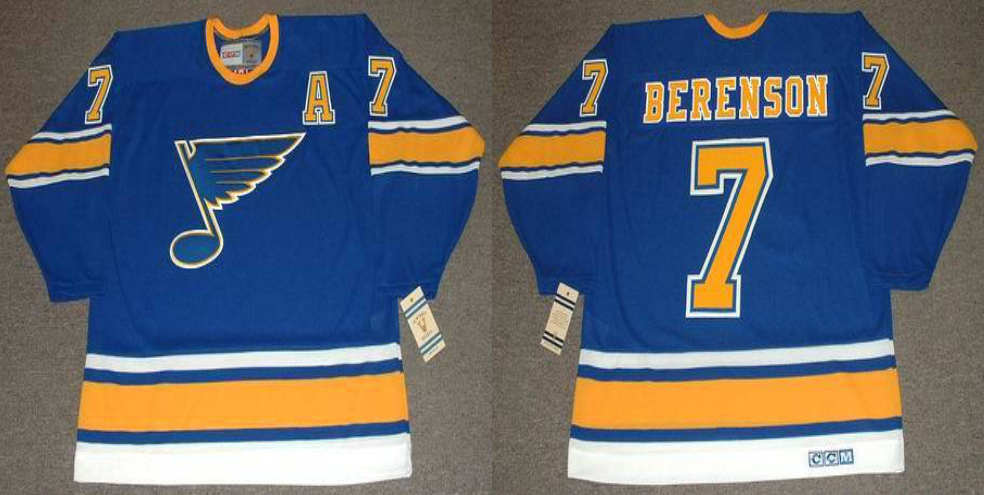2019 Men St.Louis Blues 7 Berenson blue CCM NHL jerseys