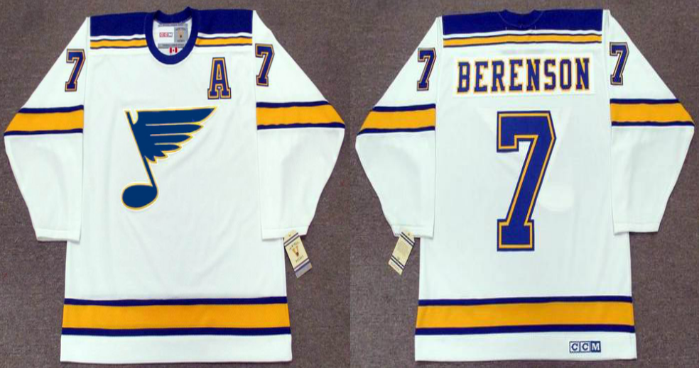 2019 Men St.Louis Blues 7 Berenson white CCM NHL jerseys
