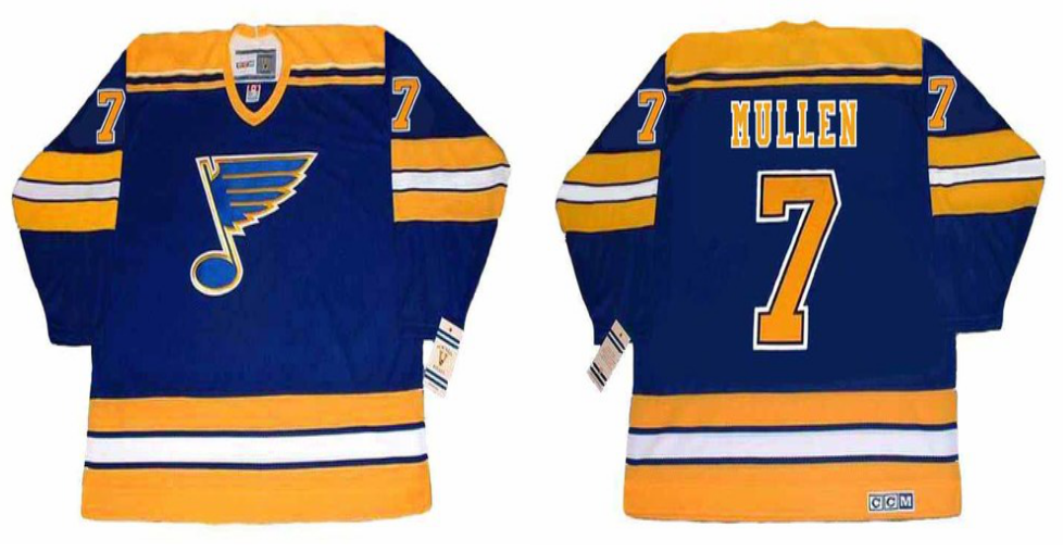 2019 Men St.Louis Blues 7 Mullen blue CCM NHL jerseys