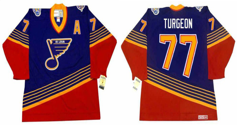 2019 Men St.Louis Blues 77 Turgeon blue CCM NHL jerseys