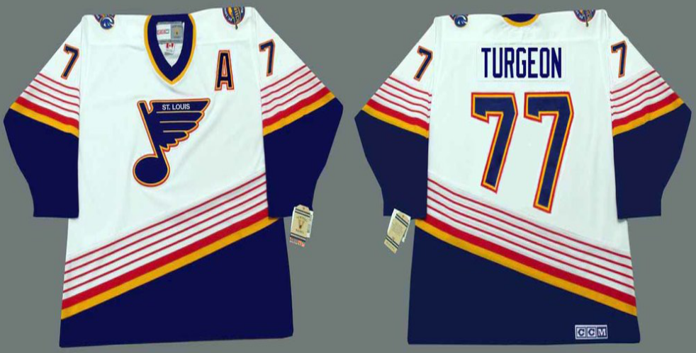 2019 Men St.Louis Blues 77 Turgeon white CCM NHL jerseys