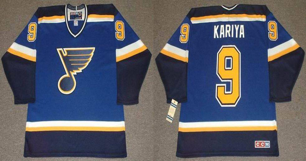 2019 Men St.Louis Blues 9 Kariya blue CCM NHL jerseys