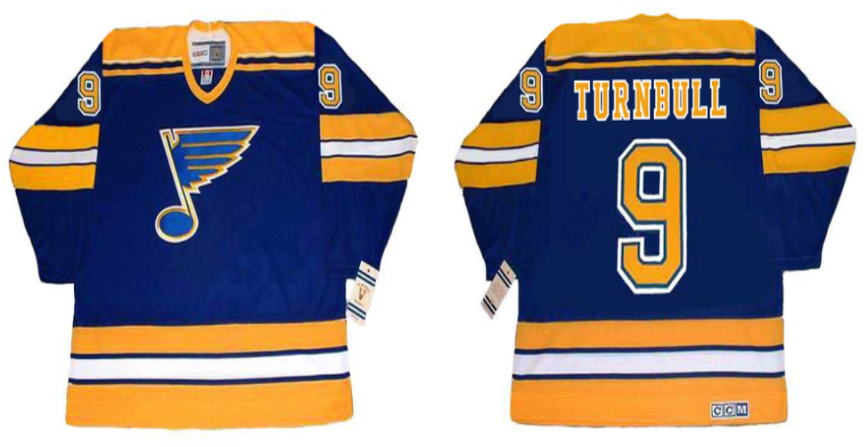 2019 Men St.Louis Blues 9 Turnbull blue CCM NHL jerseys