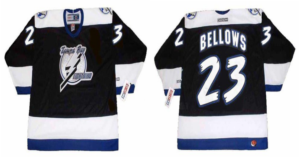 2019 Men Tampa Bay Lightning 23 Bellows black CCM NHL jerseys