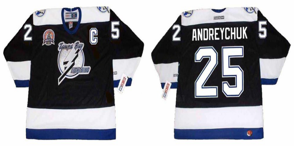 2019 Men Tampa Bay Lightning 25 Andreychuk black CCM NHL jerseys