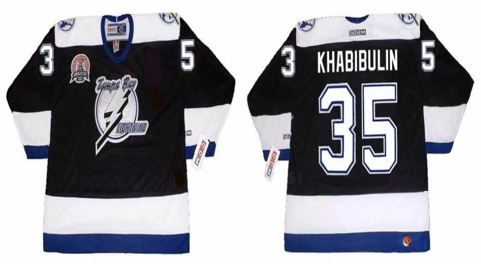 2019 Men Tampa Bay Lightning 35 Khabibulin black CCM NHL jerseys