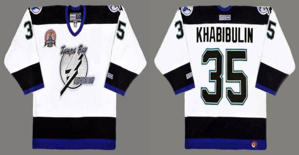 2019 Men Tampa Bay Lightning 35 Khabibulin white CCM NHL jerseys