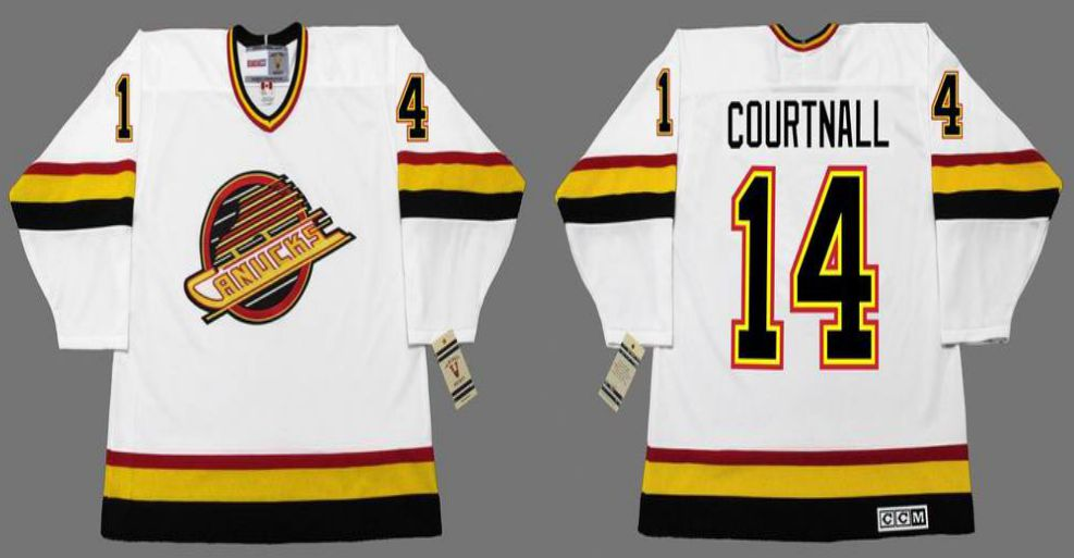 2019 Men Vancouver Canucks 14 Courtnall White CCM NHL jerseys