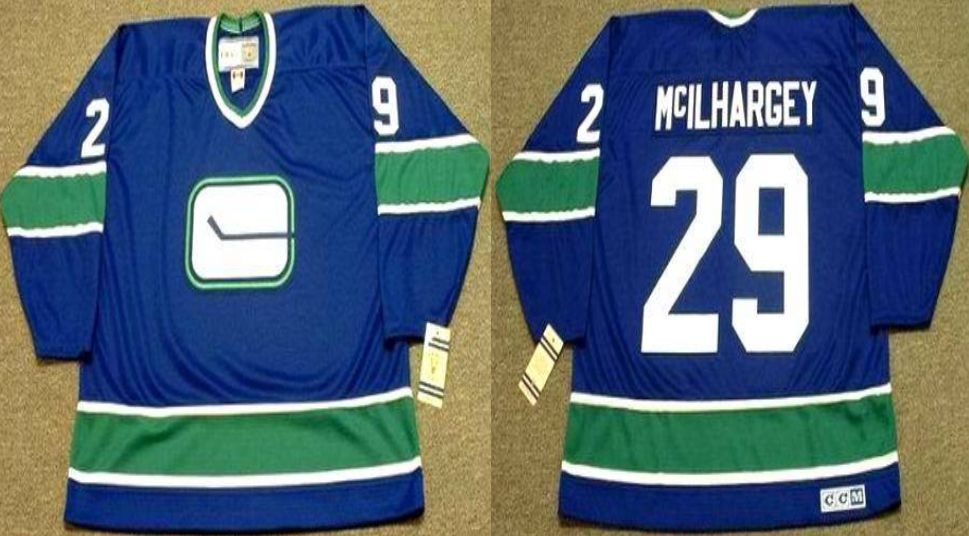 2019 Men Vancouver Canucks 29 Mcilhargey Blue CCM NHL jerseys