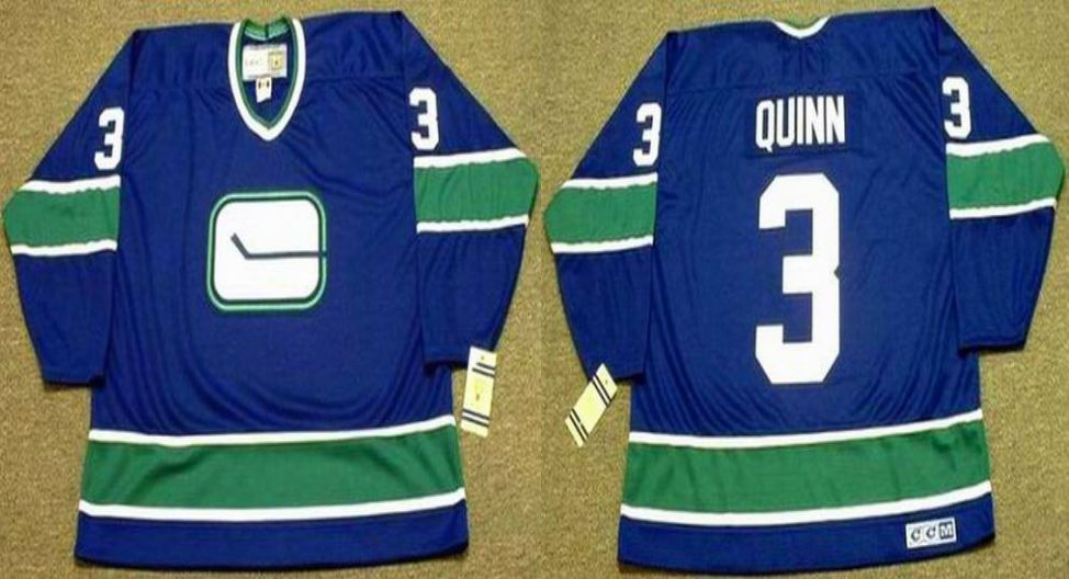 2019 Men Vancouver Canucks 3 Quinn Blue CCM NHL jerseys